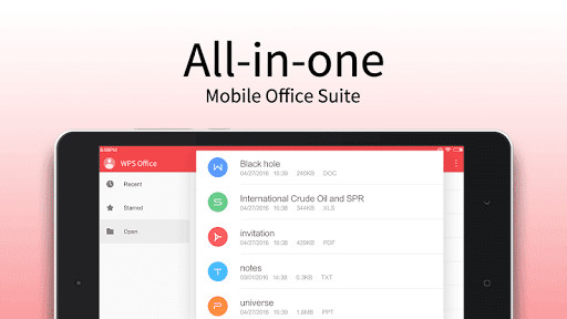 WPS Office: PPT, DOC, XLS, PDF (Kingsoft Office) for Android