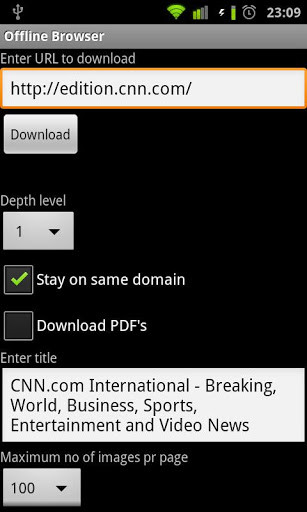 Offline Browser for Android - Free Download