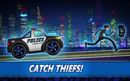 image 1 of police car racing for kids for android