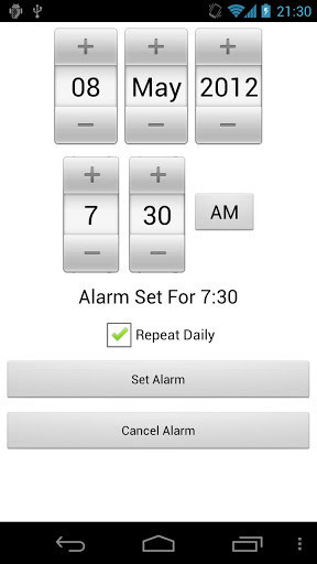 Maths Alarm Clock for Android - Free Download
