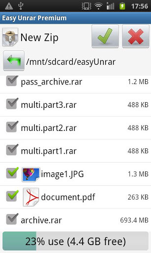 Easy Unrar, Unzip & Zip for Android - Free Download
