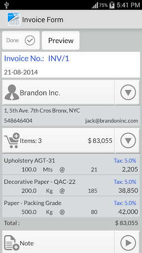 Simple Invoice Manager For Android Free Download - Simple invoice manager