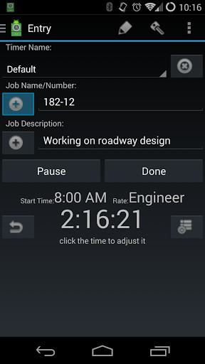 image 1 of time card for android for android - Time Card App Free