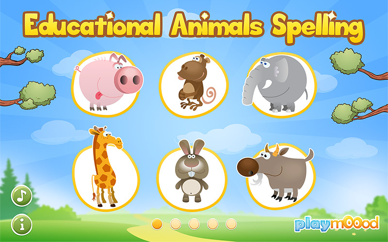 image 1 of spelling for kids animals for android