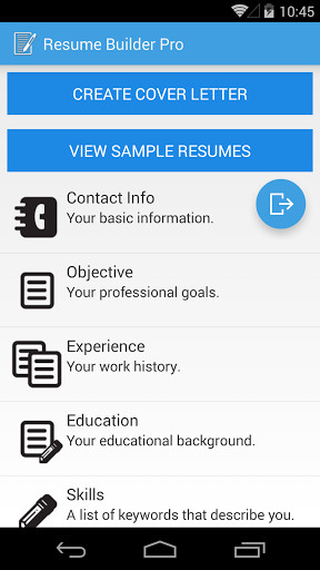 Image 1 Of Resume Builder Pro For Android ...