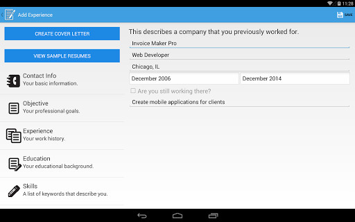 Resume Builder Pro For Android Free Download