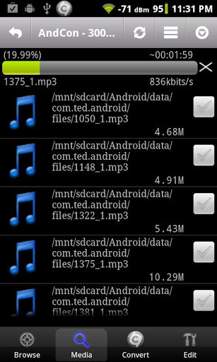 edit musik android