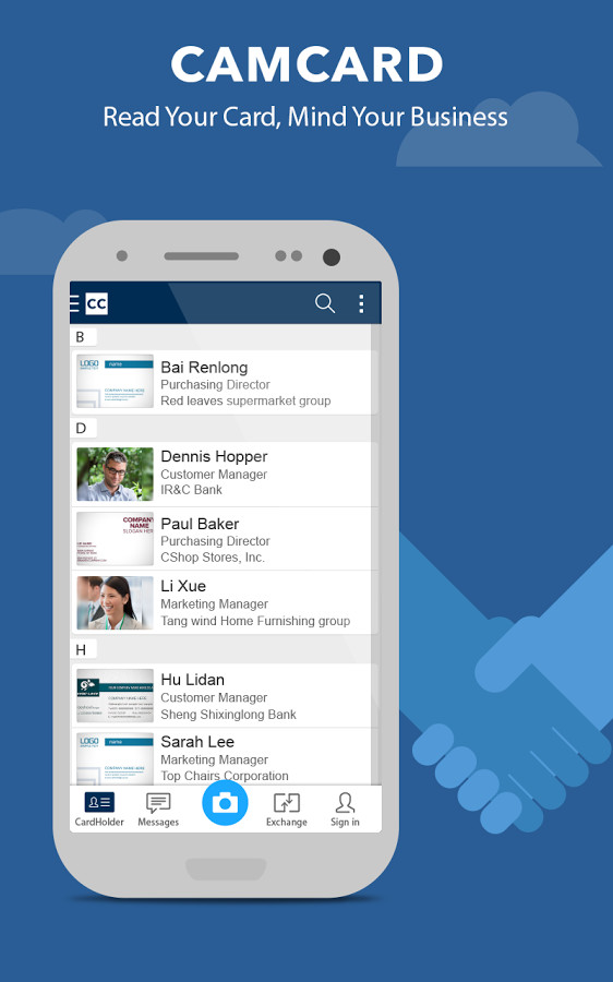 Camcard lite business card r for android free download image 1 of camcard lite business card r for android reheart Gallery