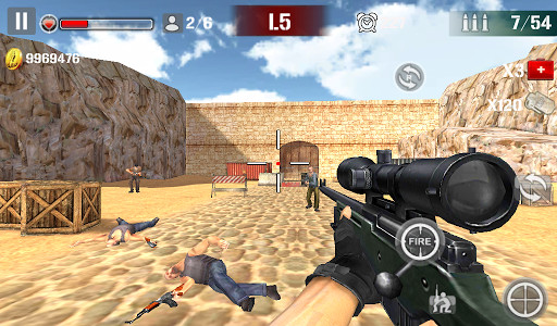 Sniper Shoot Fire War for Android - Free Download