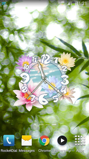 Flower Clock Live Wallpaper for Android - Free Download