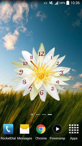 Flower Clock Live Wallpaper For Android Free Download
