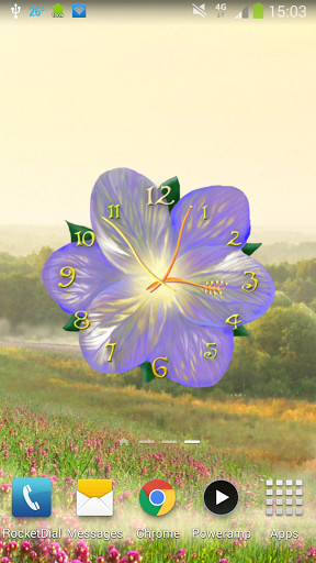 Image 6 Of Flower Clock Live Wallpaper For Android