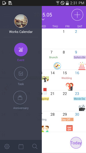 Works Mobile Calendar for Android - Free Download