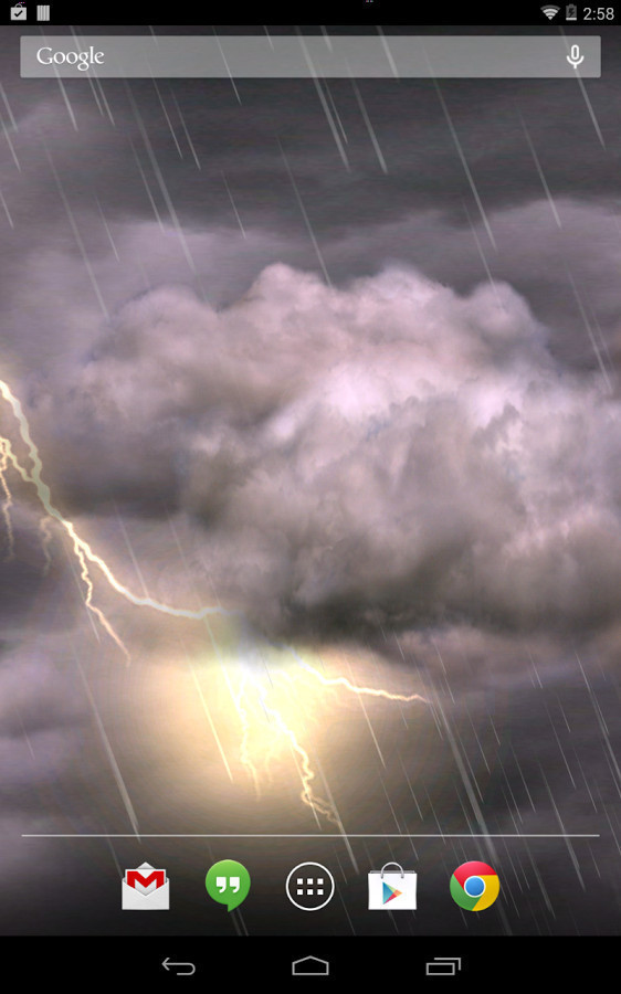 Thunderstorm Live Wallpaper for Android - Free Download