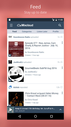 Mixcloud - Radio & DJ mixes for Android - Free Download