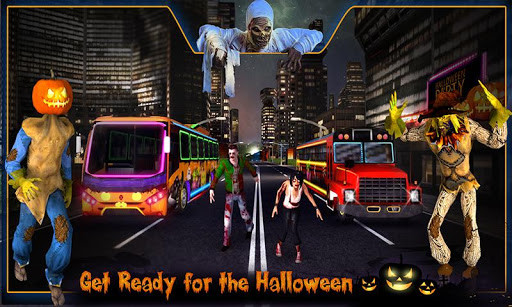 Halloween Party Bus Driver 3D for Android - Free Download