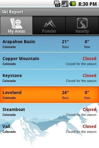 Snow Forecast for Android - Free Download