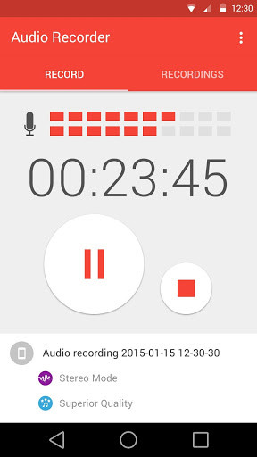Audio Recorder for Android - Free Download
