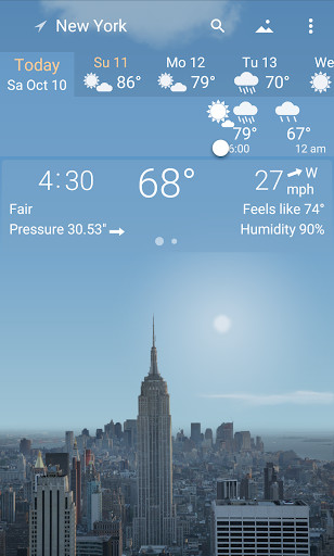 YoWindow Free Weather Forecast for Android - Free Download