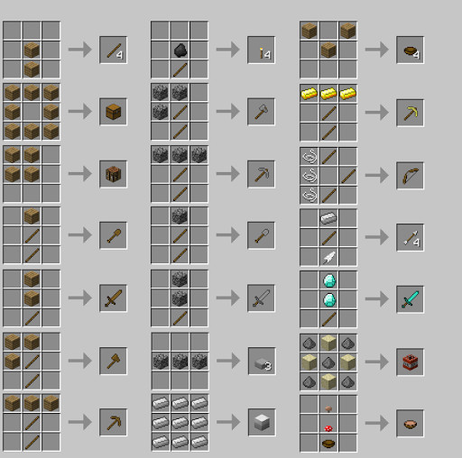 Minecraft crafting guide download.