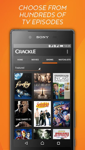 Crackle - Free Movies for Android - Free Download