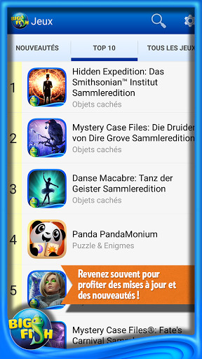 Big fish games app pour android t l charger gratuitement for Big fish games android