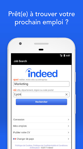 emploi - indeed jobs pour android